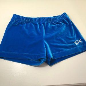 Blue Micro Mini Gymnastics Shorts